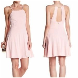 Nordstrom 19 Cooper Pink Fit and Flare Dress